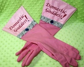 Glamour Gloves - Leopard Pink Goddess - not your average rubber gloves