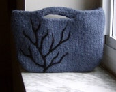 Felted Clutch Purse Midnight - Made to Order