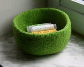 Lime Felted Treasure Bowl