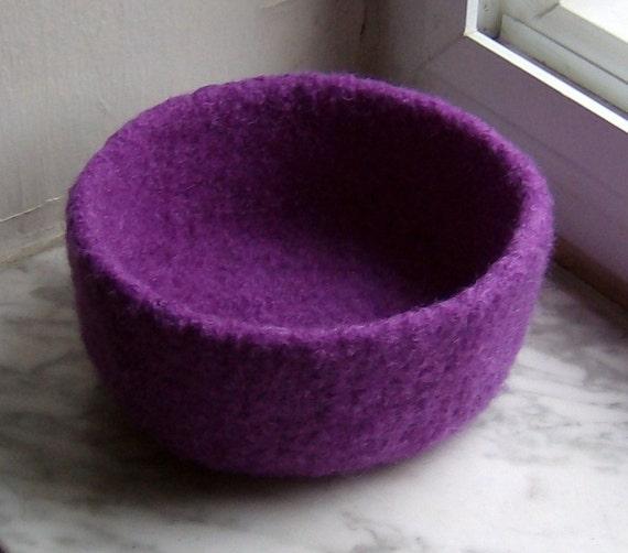 Violet Felted Treasure Bowl