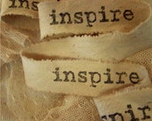Inspire - Hand stamped ribbon trim
