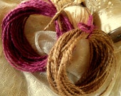 Jute Twine Burgandy & Dark Natural Brown