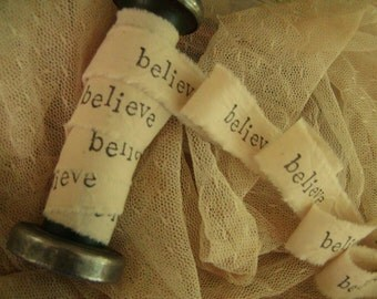 Believe - Hand Stamped Trim