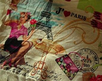 Paris Retro Style - French Retro Style Fabric