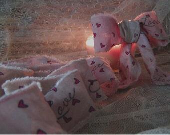 Vintage Style Valentine Hand Stamped Trim (0224)