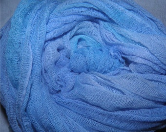 Old World Style Scrim - Gauze - Calm Blue Skies - (0503)