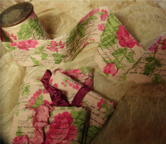 French Inspired Rose Trim - Retired Fabric -  Almost all gone
