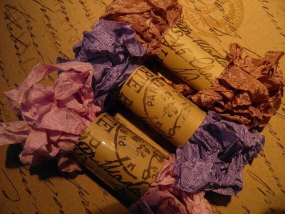 Ooh La La  - Paris Market Ribbon - Provence Trio  - Crinkle Seam Binding - 30 Yards -  (0401SB)