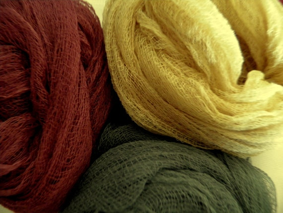 Earth Tones -  Hand Dyed Cheese Cloth - Choose your colors