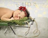 Valentines Day Headbands-Baby Headbands-Baby girls headbands-newborn headbands-flower headbands-vintage-red headband-Newborn Photo Prop-Baby