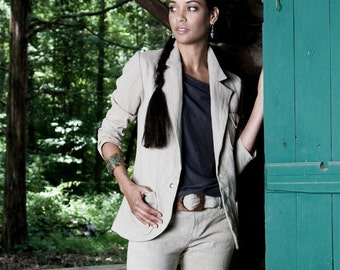 ORGANIC Hemp Linen Suit Jacket