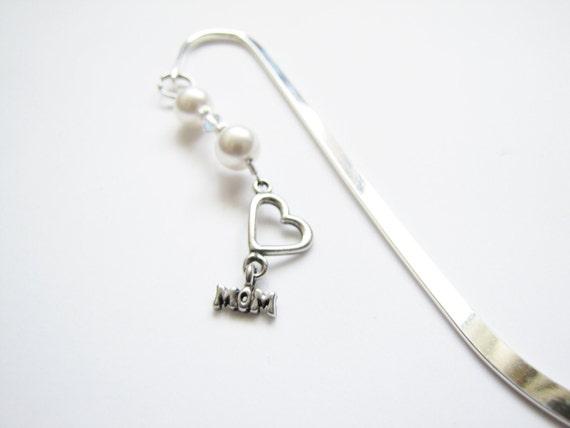 Mom Bookmark Swarovski Pearl Crystal Mom Charm Gift