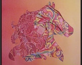 At the Heart of a Horse Paper Art