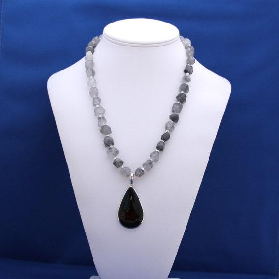 Onyx and Quartz Necklace-8 Days a Week
