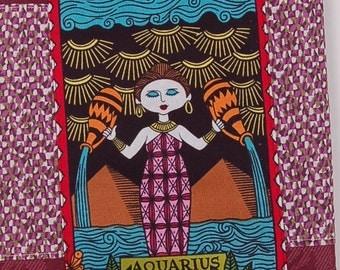aquarius zodiac tea towel