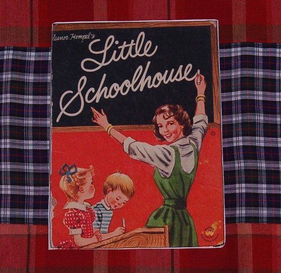 vintage back to school teacher tea towel
