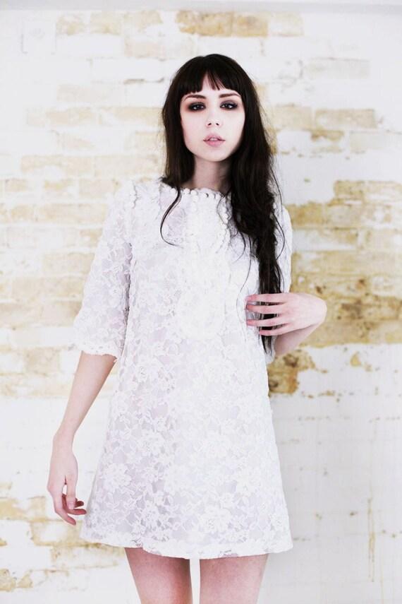 pretty little thing/mini wedding dress