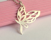 A Butterfly Story Necklace in Sterling Silver
