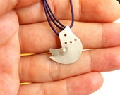 Come With Me Bird Purple Necklace