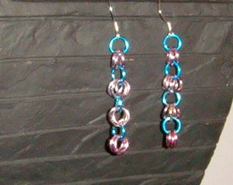 Number 607 - Shaggy Loops Chainmaille Earrings