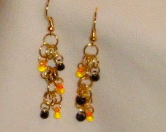 Number 623 - Shaggy Loops Chainmaille and Matagama Earrings