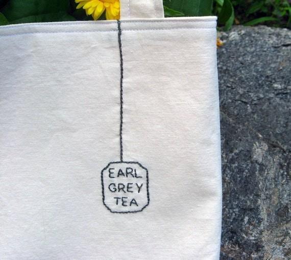 Earl Grey Tea Bag Tote - Cream