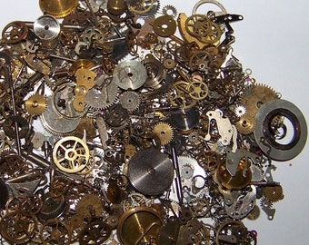 15g GEARS STEAMPUNK Watch Parts Pieces Cogs Artist's Lot Steam Punk Movement 15 Grams
