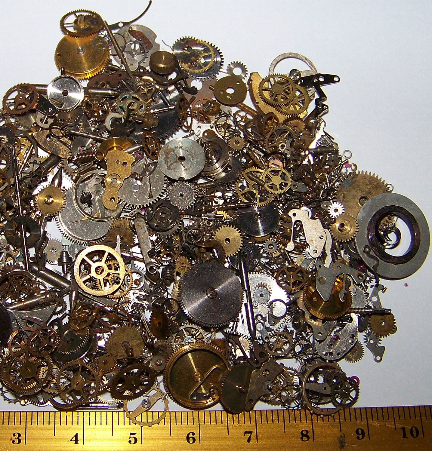 Lots Of Gears Steampunk Watch 7 5g Parts Pieces Cogs
