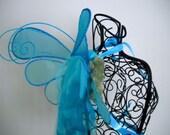Triple Blue Fairy Wings