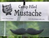 Catnip Filled Black Mustache Cat Toy
