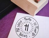 Round Dottie Customized Address Stamp