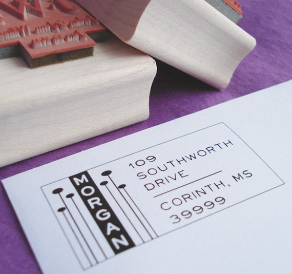 Rectangle Pods Customized Address Stamp