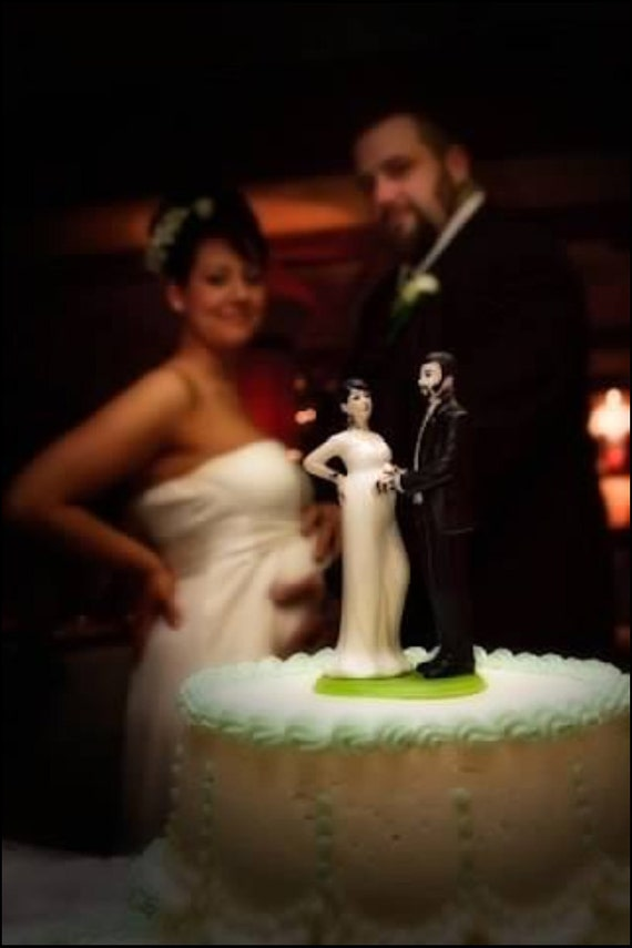 wedding cake topper pregnant bride tattooed and expecting wedding cake topper by 26372