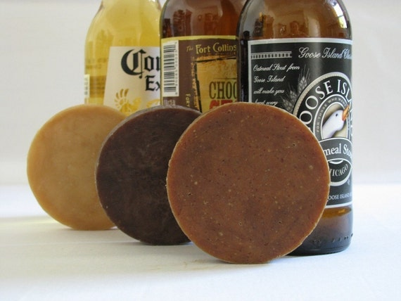BEER SOAP suds sampler trio Naturally Created with Beer