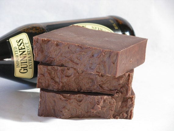 Single Bar Soap - Beer Soap - Sweet Cocoa - Made with Guinness Stout - Gifts For Men - Fathers Day