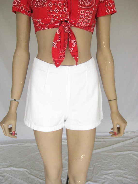 Vintage 50s White Pinup Girl Shorts