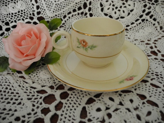 Homer Laughlin Demi Tea cup and Saucer