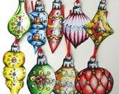 CHRISTMAS GIFT TAG ORNAMENTS SET OF 9