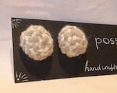 Handmade woollen post\/stud earrings...
