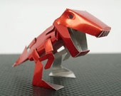 Miniature Jurassic Super Robot RED CanRex 330 Dinosaur T-Rex Grimlock Toys Gift made by Coke Can