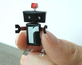 Handmade Black Red Canbot Robot Doll Gift made by SODA Can- Shadow Special