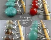 Stitch markers grab bag in gemstones