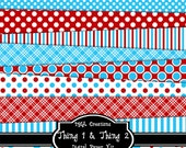 Thing 1 and Thing 2 - Digital Paper Kit For Scrapbooks, Cards, Invitations