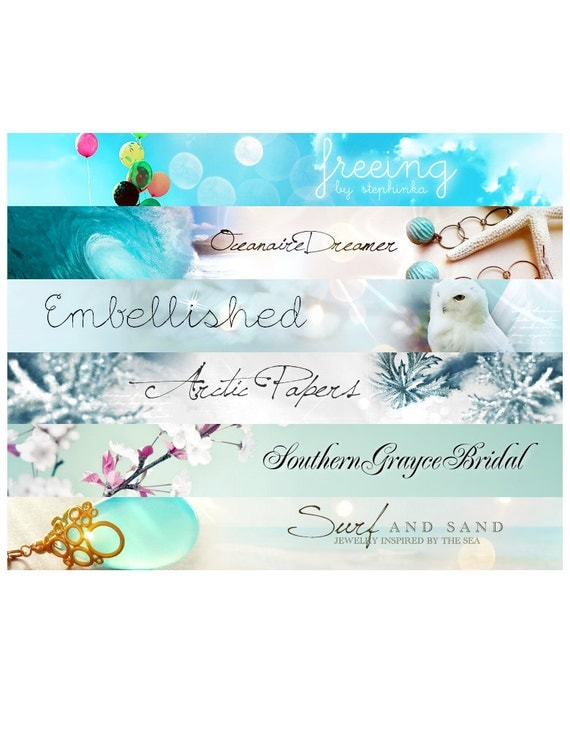 Custom Etsy banner and avatar package set