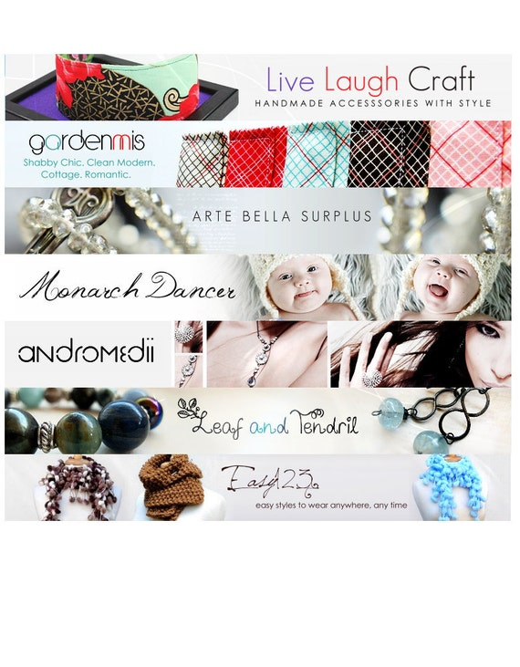 Etsy banner and avatar package set