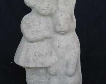 Unfinished paper mache Girl w/Bunny