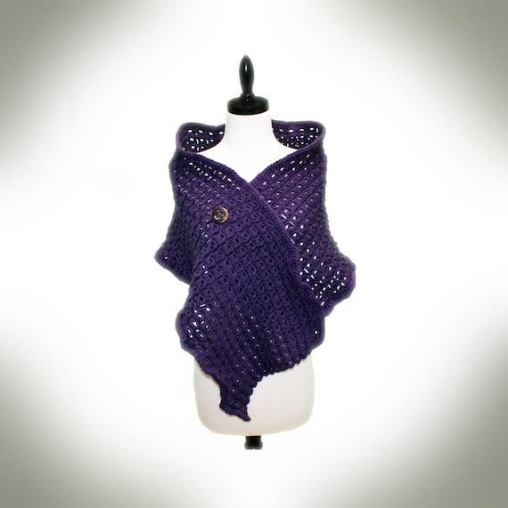Prima Broomstick Lace Shawl Crochet Pattern by JacquiJCrochet