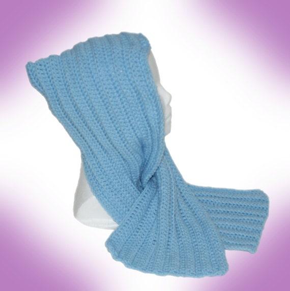 PIF - Little Blue Riding Hood Scarf Crochet Pattern