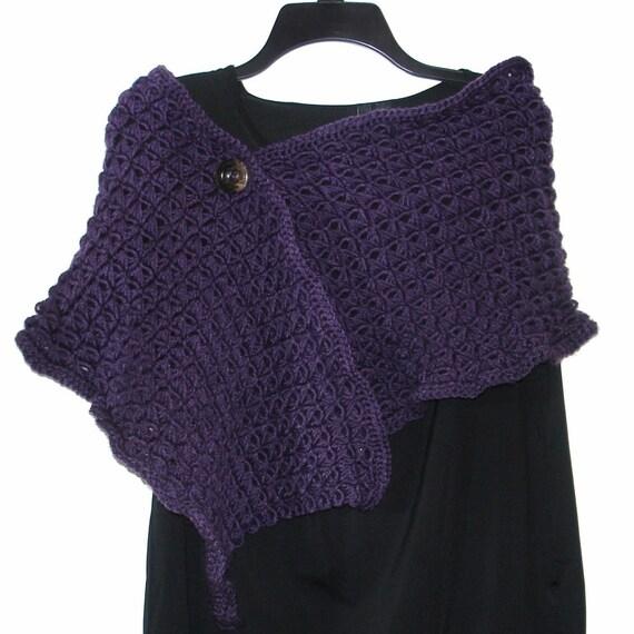 Crochet Pattern Ladies Shawl : Womens Broomstick Lace Shawl Crochet Pattern by ...