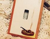 Vintage Pipe smoking Handmade light switch cover